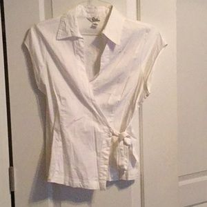 Lilly White Wrap Top